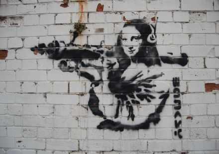 Banksy: Mona Lisa. Graffiti/Street Fine Art Print/Poster. Sizes: A4/A3/A2/A1 (002618)